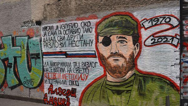 Mural posvećen ruskom dobrovoljcu Albertu Andijevu - Sputnik Srbija