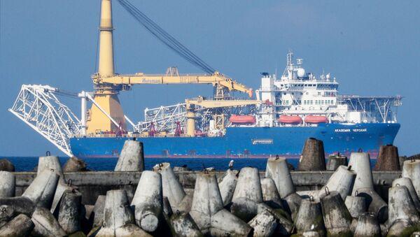 Брод за полагање гасоводних цеви Академик Черски - Sputnik Србија
