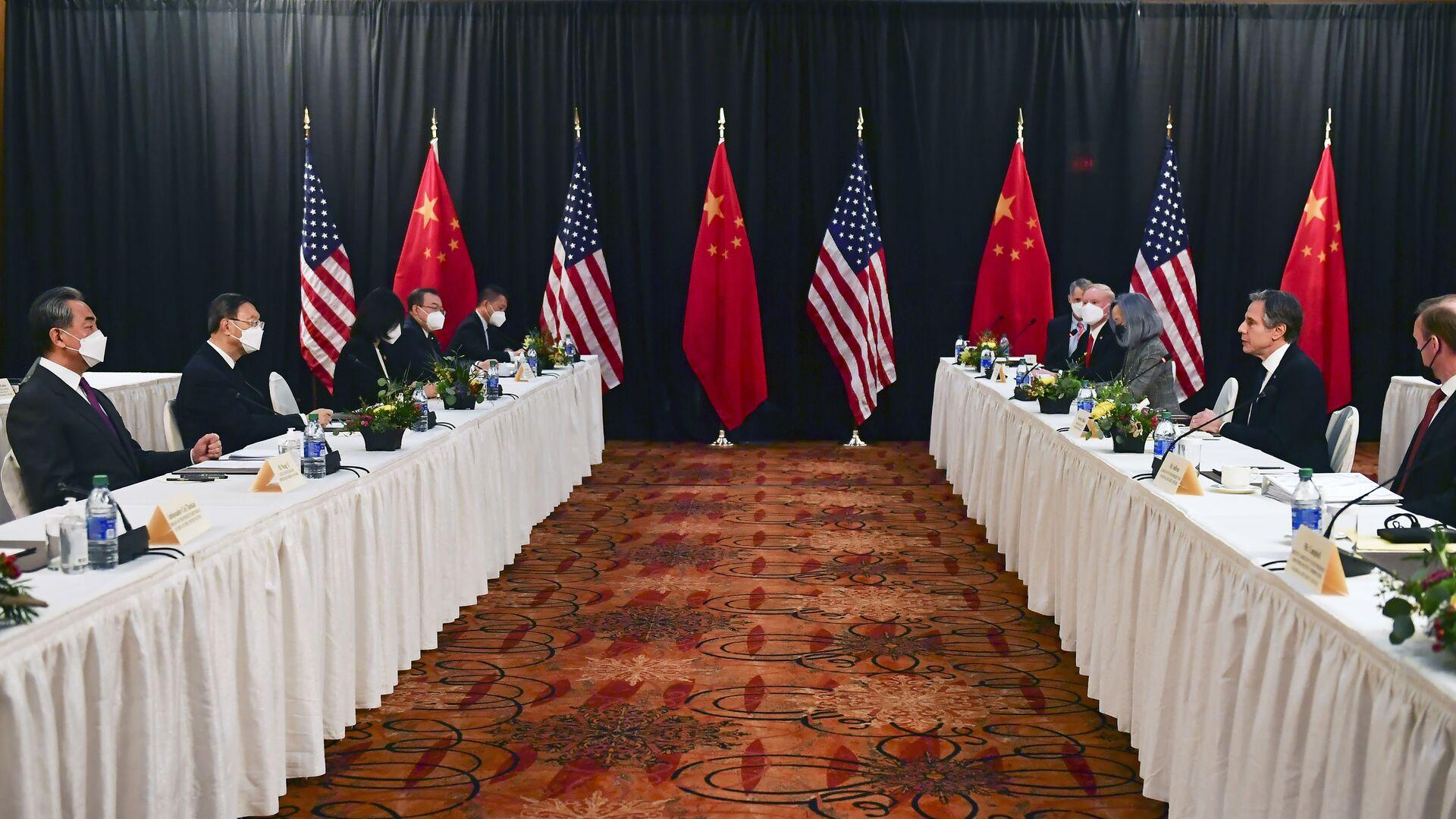 Sastanak delegacija Kine i SAD na Aljasci - Sputnik Srbija, 1920, 12.09.2021