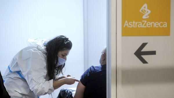 Vakcinacija Astra Zenekom na Beogradskom sajmu - Sputnik Srbija
