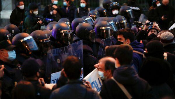 Протести у Мадриду због хапшења каталонског репера Пабла Хасела. - Sputnik Србија