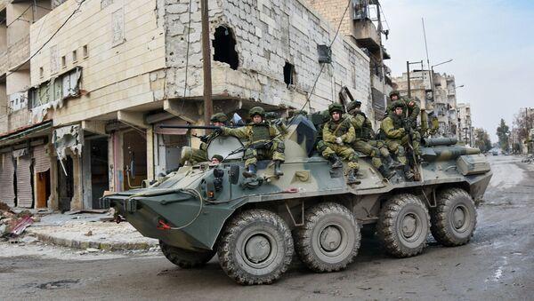 Руска војска у граду Алепо у Сирији - Sputnik Србија