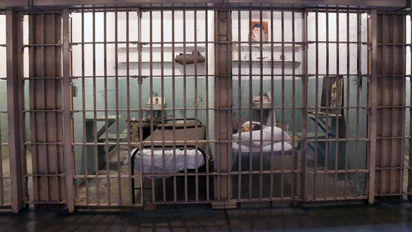 Replika ćelija u napuštenom zatvoru na ostrvu Alkatraz - Sputnik Srbija