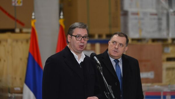 Aleksandar Vučić i Milorad Dodik - Sputnik Srbija