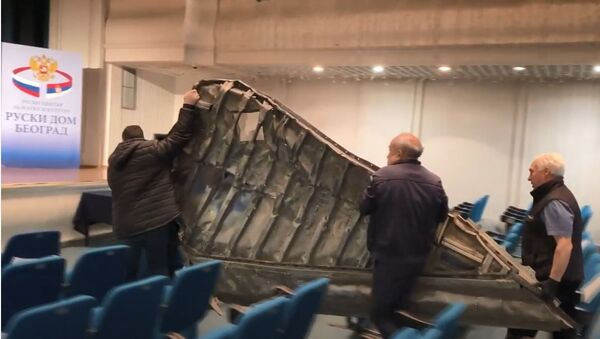 """Део """"невидљивог"""" авиона обореног у Буђановцима током бомбардовања СРЈ 1999. - Sputnik Србија"""