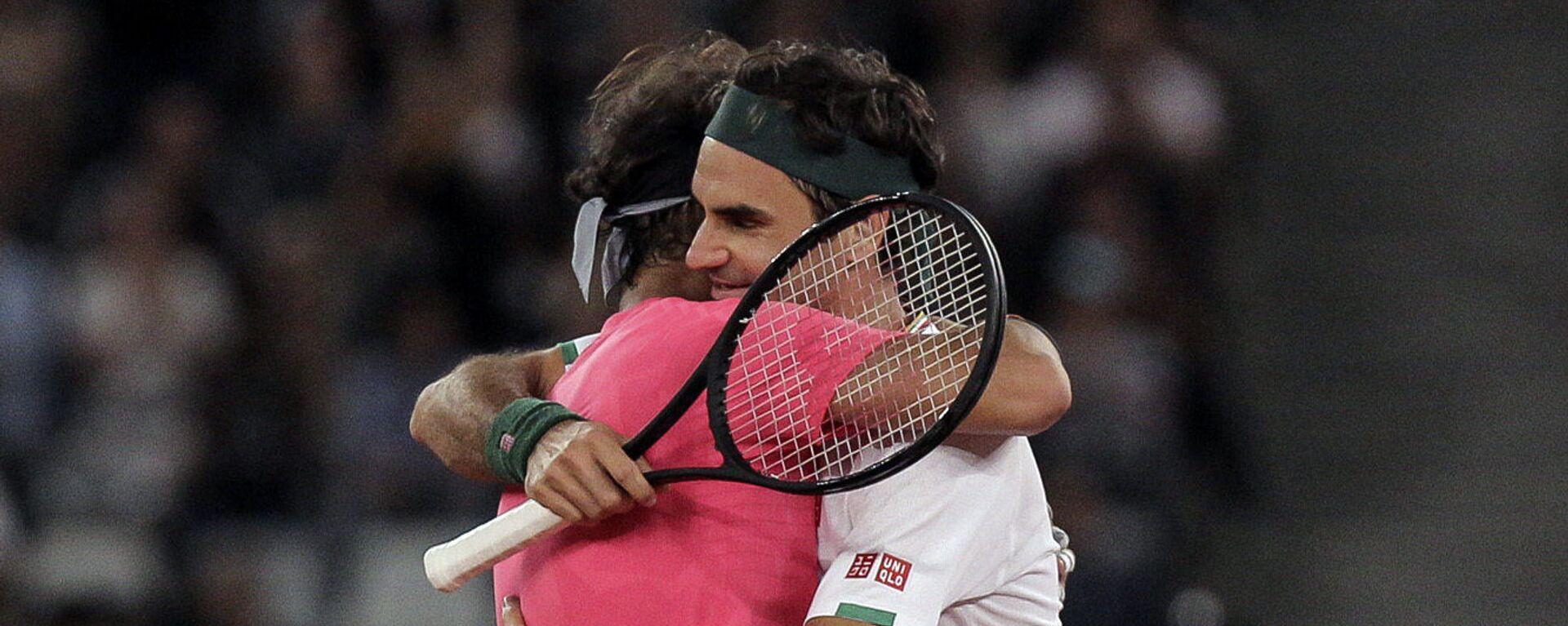 Rafael Nadal i Rodžer Federer u zagljaju - Sputnik Srbija, 1920, 01.10.2021