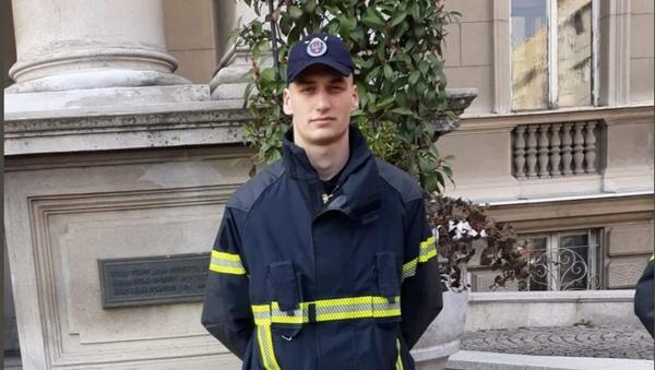 Đorđe Vukićević, vatrogasac sa KiM - Sputnik Srbija