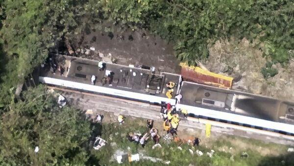 Несрећа на Тајвану, воз искочио из шина - Sputnik Србија