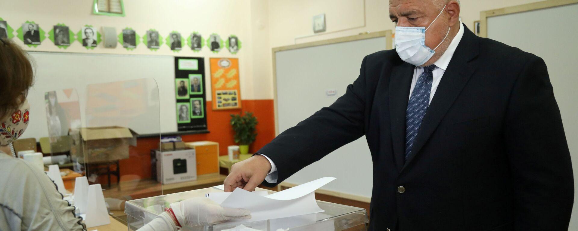 Bugarski premijer Bojko Borisov glasa na parlamentarnim izborima u Sofiji. - Sputnik Srbija, 1920, 02.09.2021