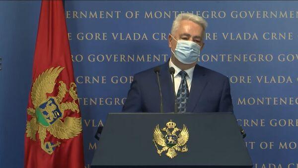 Zdravko Krivokapić tokom vanrednog obraćanja zbog zahteva za smenu ministra pravde - Sputnik Srbija