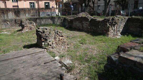 Рушевине Народне библиотеке на Косанчићевом венцу - Sputnik Србија