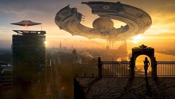 Уметнички приказ доласка ванземаљаца на Земљу - Sputnik Србија