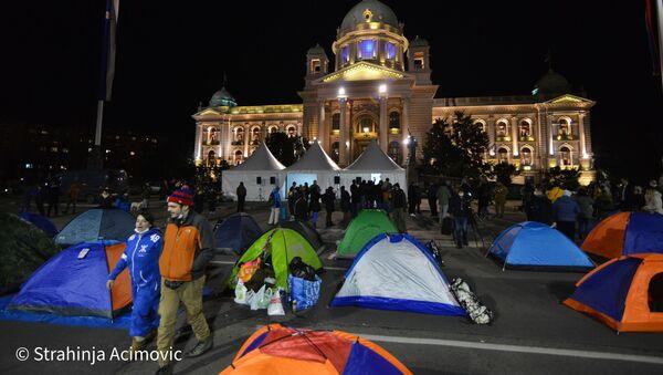 Protest frilensera ispred Narodne Skupštine - Sputnik Srbija