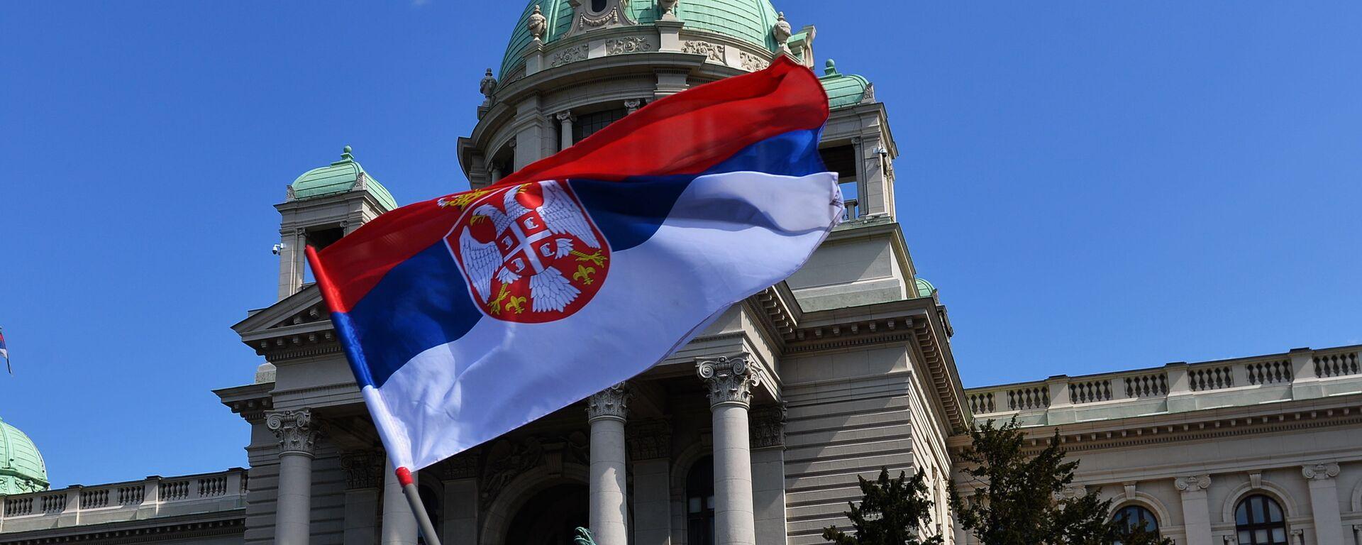 Zastava ispred Skupštine - Sputnik Srbija, 1920, 10.07.2021