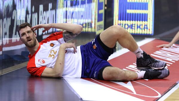 Ognjen Kuzmić, košarkaš Crvene zvezde, pred meč sa Albom u Berlinu - Sputnik Srbija