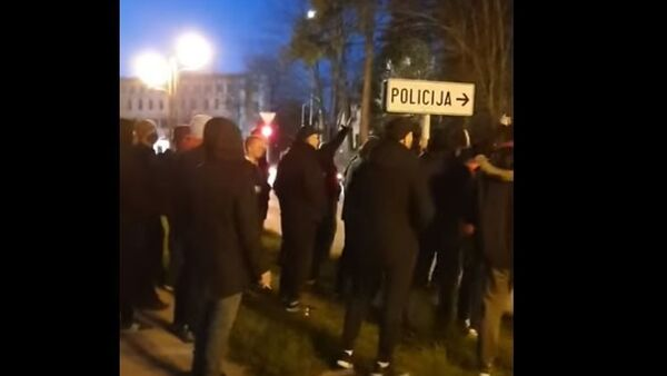 Protest ispred nikšićkog Centra za bezbednost - Sputnik Srbija