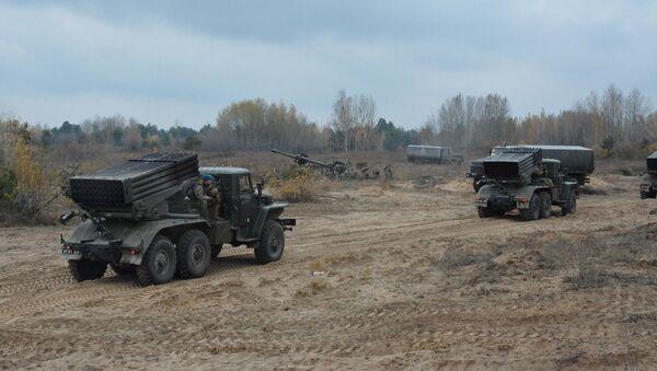 Вежбе артиљеријских јединица Оружаних снага Украјине - Sputnik Србија