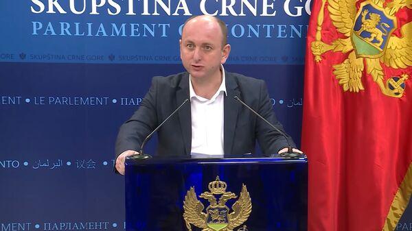 Milan Knežević, predsednik Demokratske narodne partije i jedan od lidera Demokratskog fronta Crne Gore - Sputnik Srbija