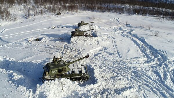 Vojne vežbe Severne flote motorizovane brigade Severne flote Rusije u Murmanskoj oblasti - Sputnik Srbija