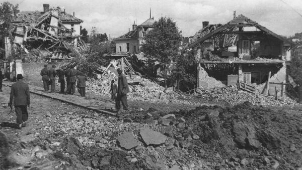 Beograd posle savezničkog bombardovanja 1944. godine - Sputnik Srbija