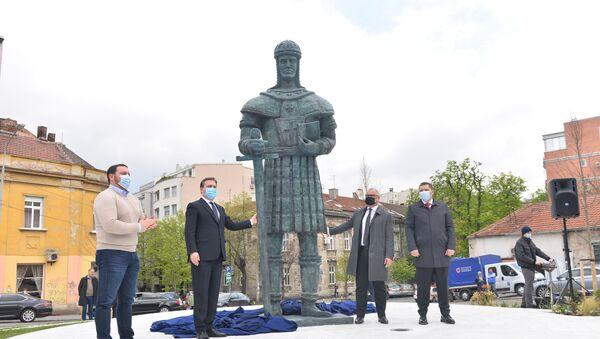 Otkrivanje spomenika despotu Stefanu Lazareviću. - Sputnik Srbija