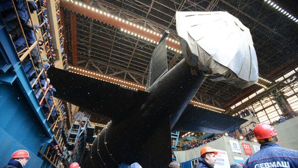 Свечана церемонија поринућа нуклеарне подморнице Казањ Морске флоте Русије у Северодвинску - Sputnik Србија
