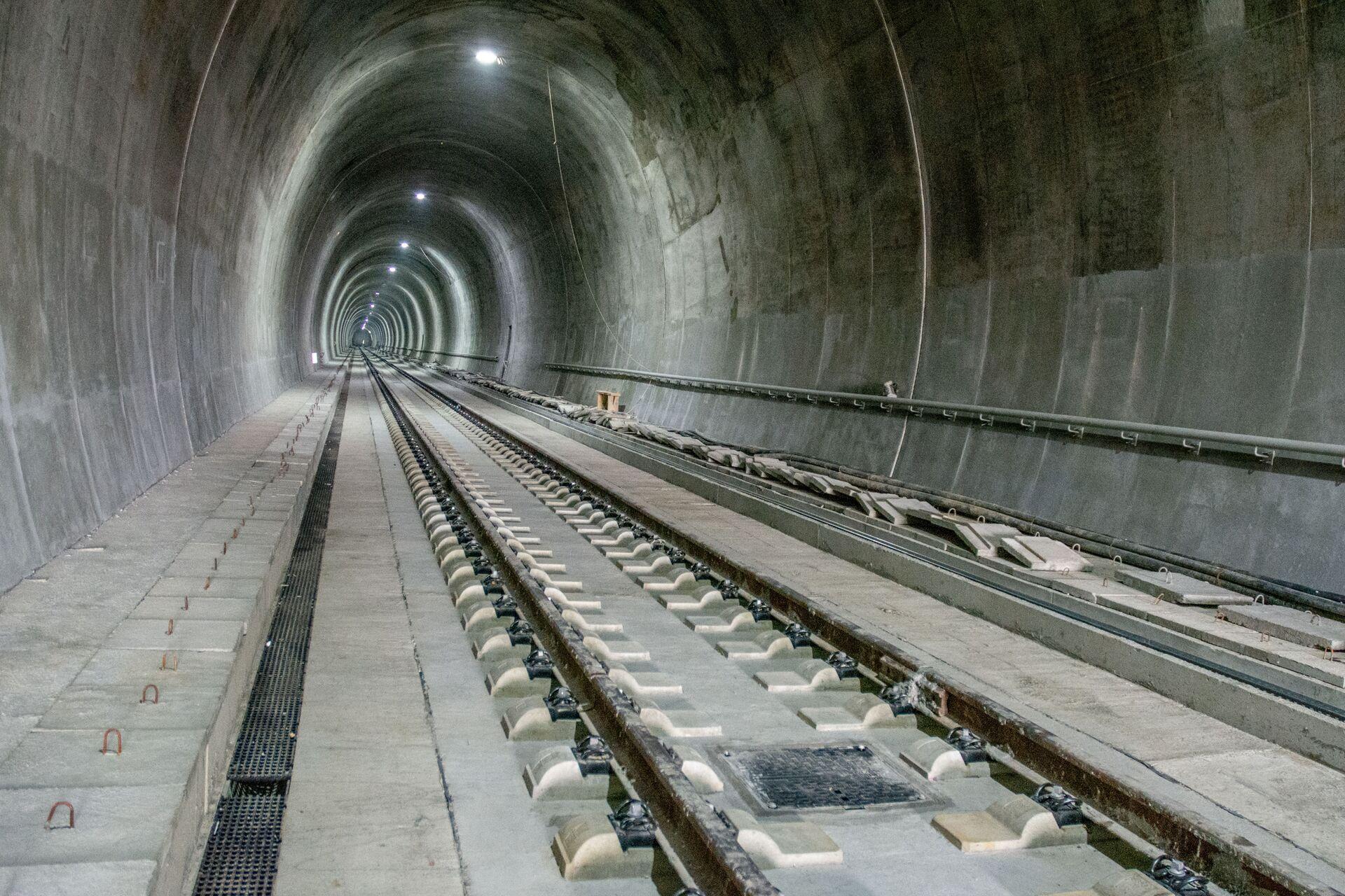 Пола године пре рока: Руске железнице завршиле радове на вијадукту и тунелу Чортановци /фото/ - Sputnik Србија, 1920, 20.04.2021