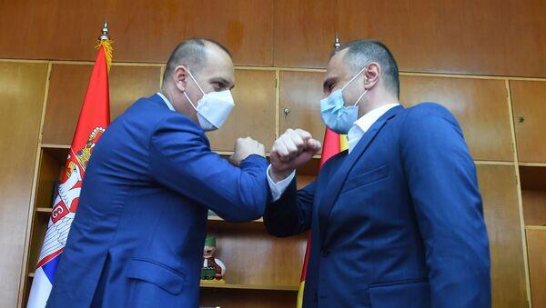 Ministri zdravlja Srbije i Severne Makedonije Zlatibor Lončar i Venko Filipče - Sputnik Srbija