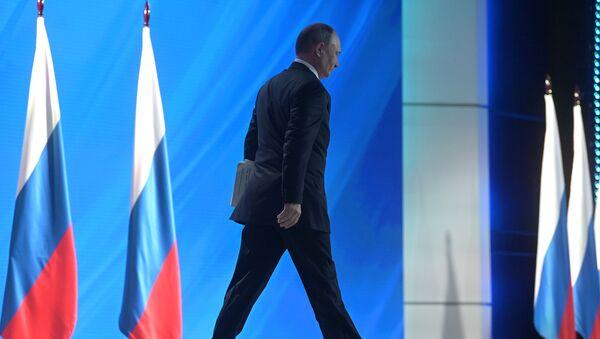 Владимир Путин се обраћа Федералној скупштини - Sputnik Србија