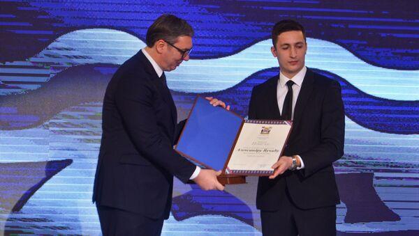 Predsedniku Srbije Aleksandru Vučiću uručen ključ Grada Banjaluke sa Poveljom počasnog građanina - Sputnik Srbija