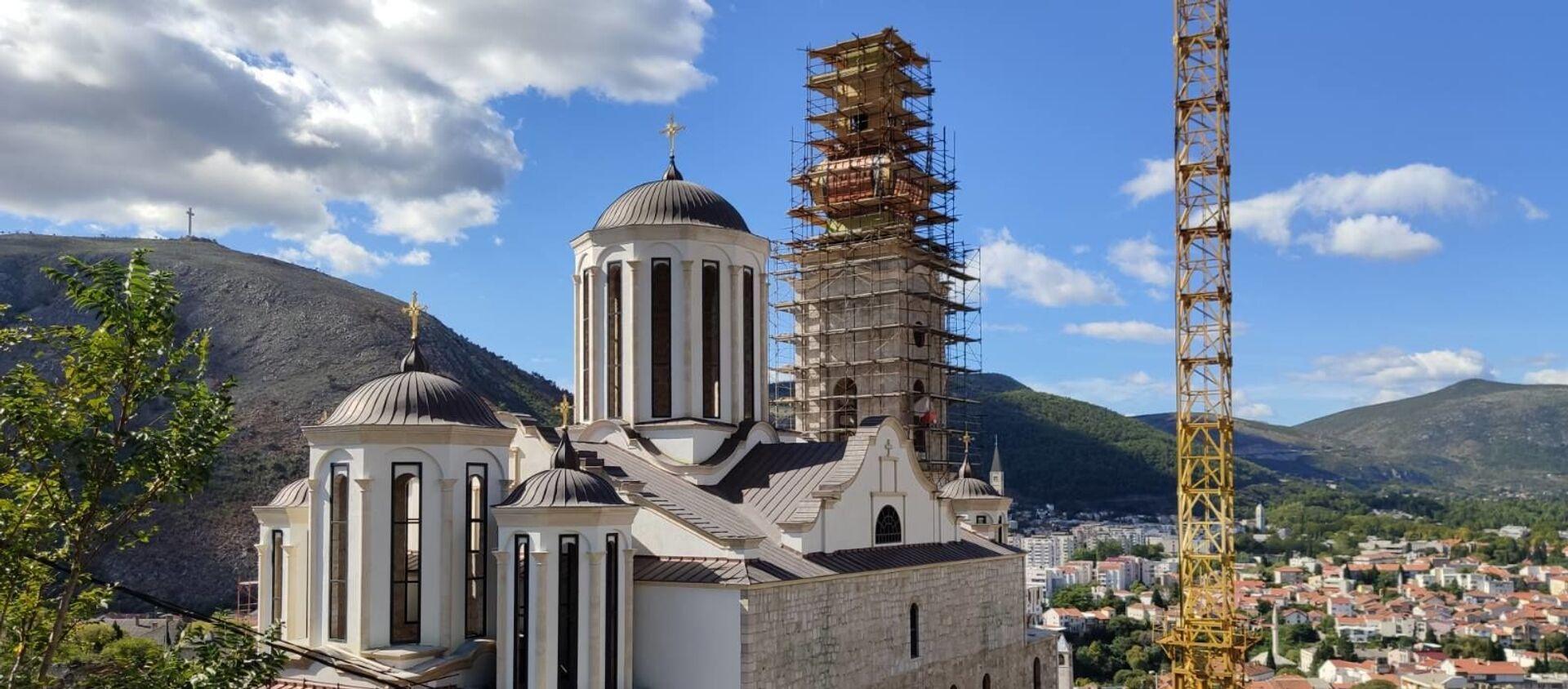 Crkva je spomenik kulture BiH, bila je pod zaštitom UNESKO-a, a i po Dejtonskom sporazumu mora da izgleda identično kao njena prethodnica, da bude istih dimenzija, ali i od istog materijala.  - Sputnik Srbija, 1920, 25.04.2021