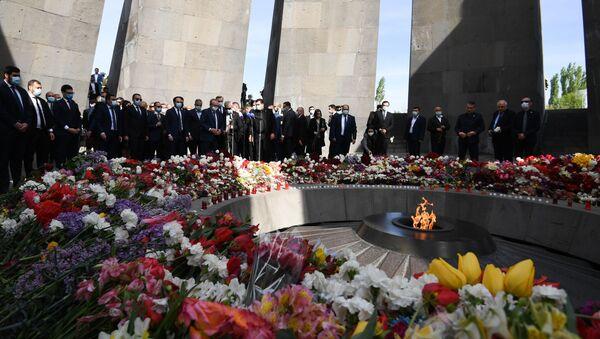 Јерменски председник о Бајденовом саопштењу: Смео корак после којег ће свет бити бољи - Sputnik Србија