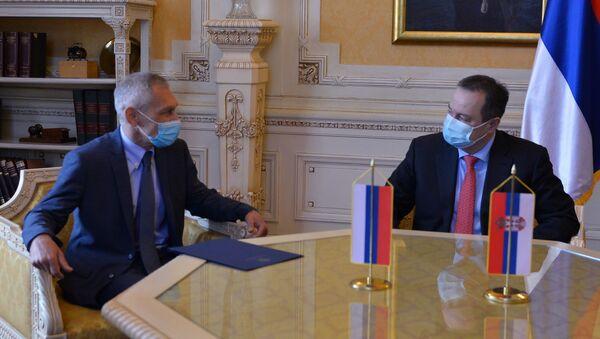 Sastanak predsednika Skupštine Srbije Ivice Dačića i Aleksandra Bocan-Harčenko - Sputnik Srbija