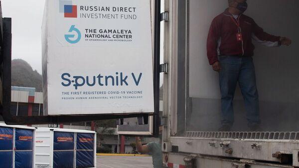 Паковање руске вакцине против ковида Спутњик Ве - Sputnik Србија