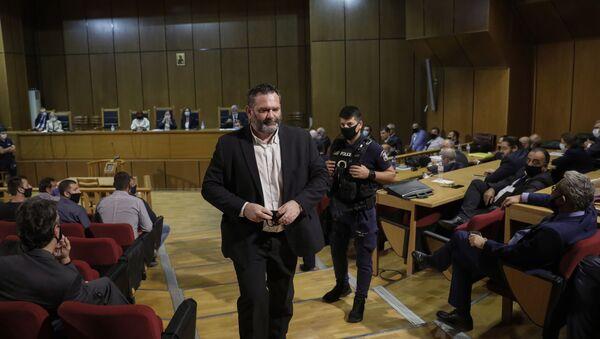 Бивши члан грчке екстремно десничарске партије Златна зора и члан Европског парламента Јоанис Лагос - Sputnik Србија