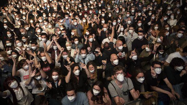 Eksperimentalni koncert u Barseloni u skladu sa epidemiološkim pravilima protiv virusa korona - Sputnik Srbija