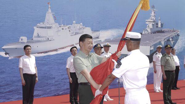 Ceremonija u mornaričkom kompleksu u blizini grada Sanji na južnom kineskom ostrvu Hajnan - Sputnik Srbija