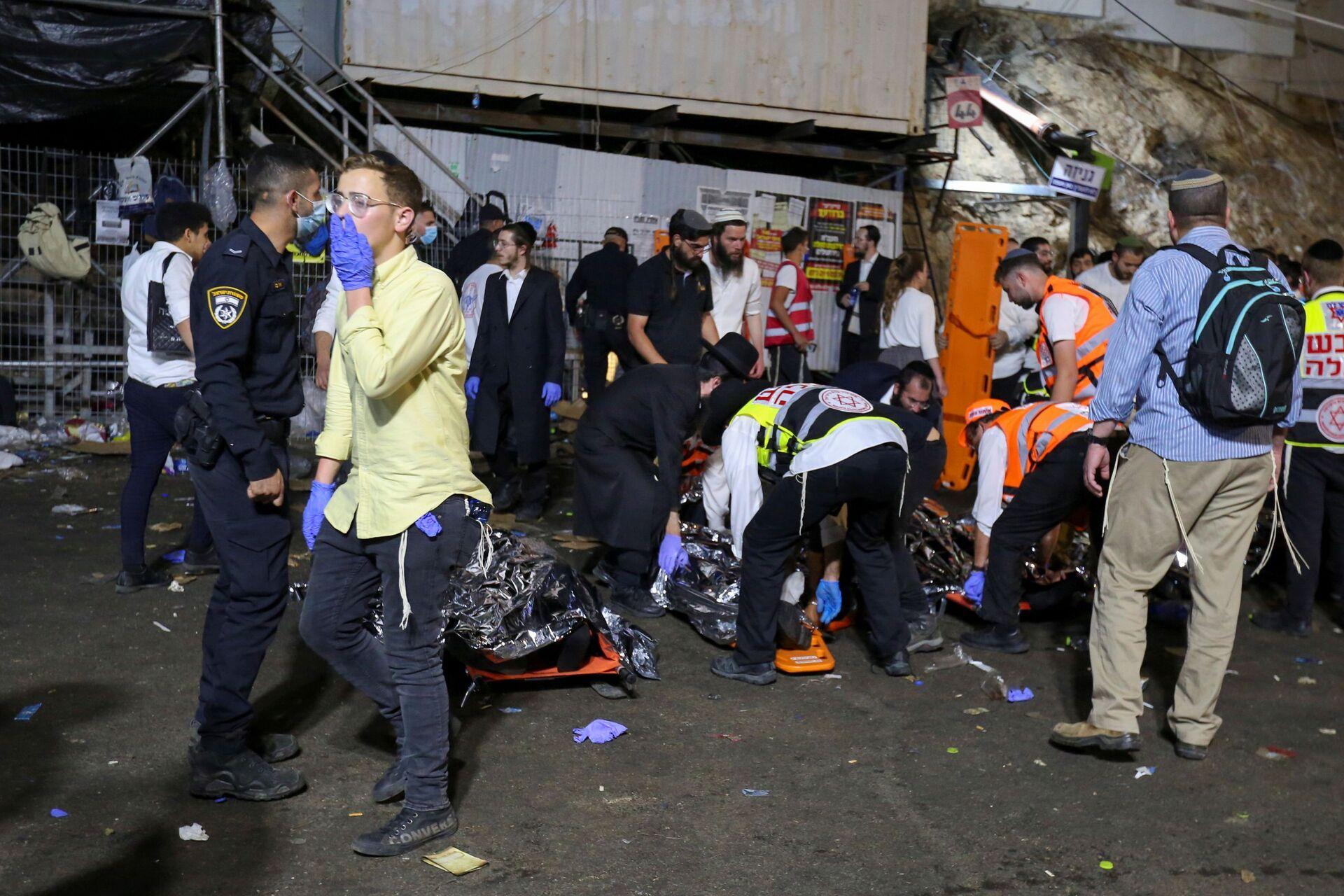 Трагедија у Израелу: Десетине мртвих, 150 повређених у стампеду на верском фестивалу /видео, фото/ - Sputnik Србија, 1920, 30.04.2021