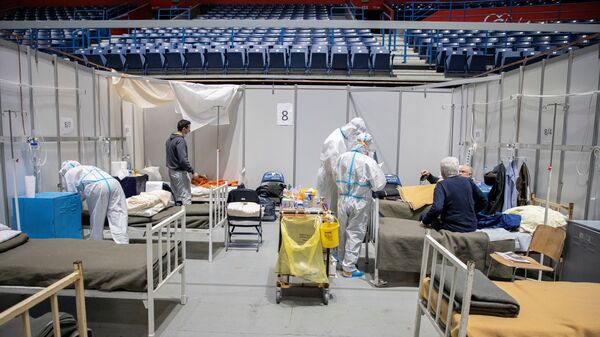 Kovid bolnica u Beogradskoj areni - Sputnik Srbija