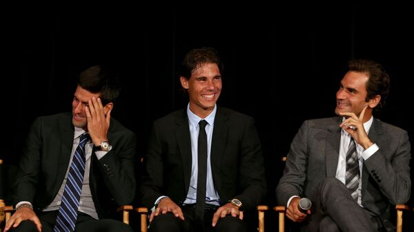 Novak Đoković, Rafael Nadal i Rodžer Federer - Sputnik Srbija