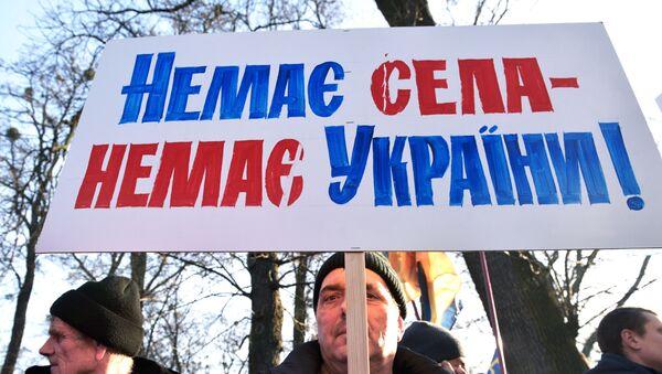 Протест против продаје земље у Украјини  - Sputnik Србија
