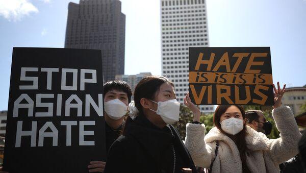 Demonstracije protiv nasilja nad Azijatima u San Francisku - Sputnik Srbija