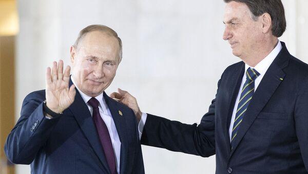 Владимир Путин и Жаир Болсонаро - Sputnik Србија