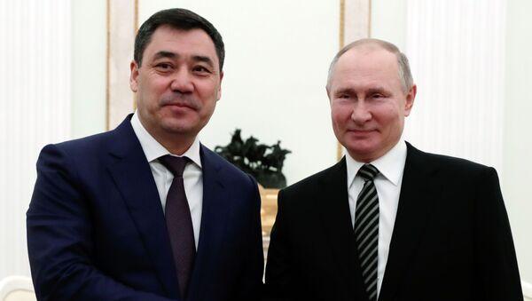 Председници Русије и Киргизије Владимир Путин и Садир Жапаров - Sputnik Србија