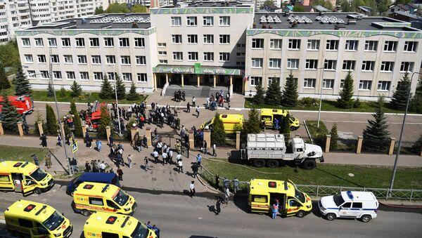 Situacija u školi u Kazanju nakon pucnjave - Sputnik Srbija
