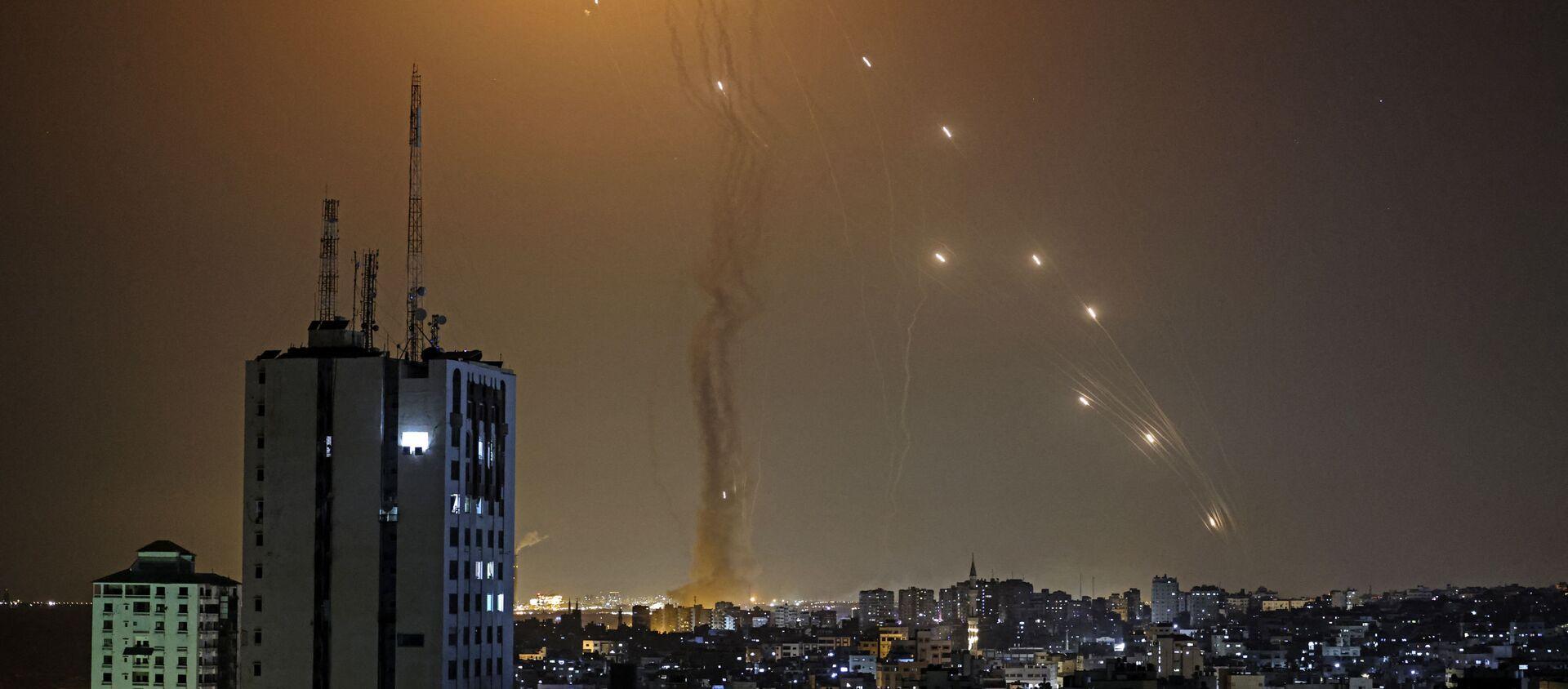 Ракете лансиране из Газе лете према Тел Авиву - Sputnik Србија, 1920