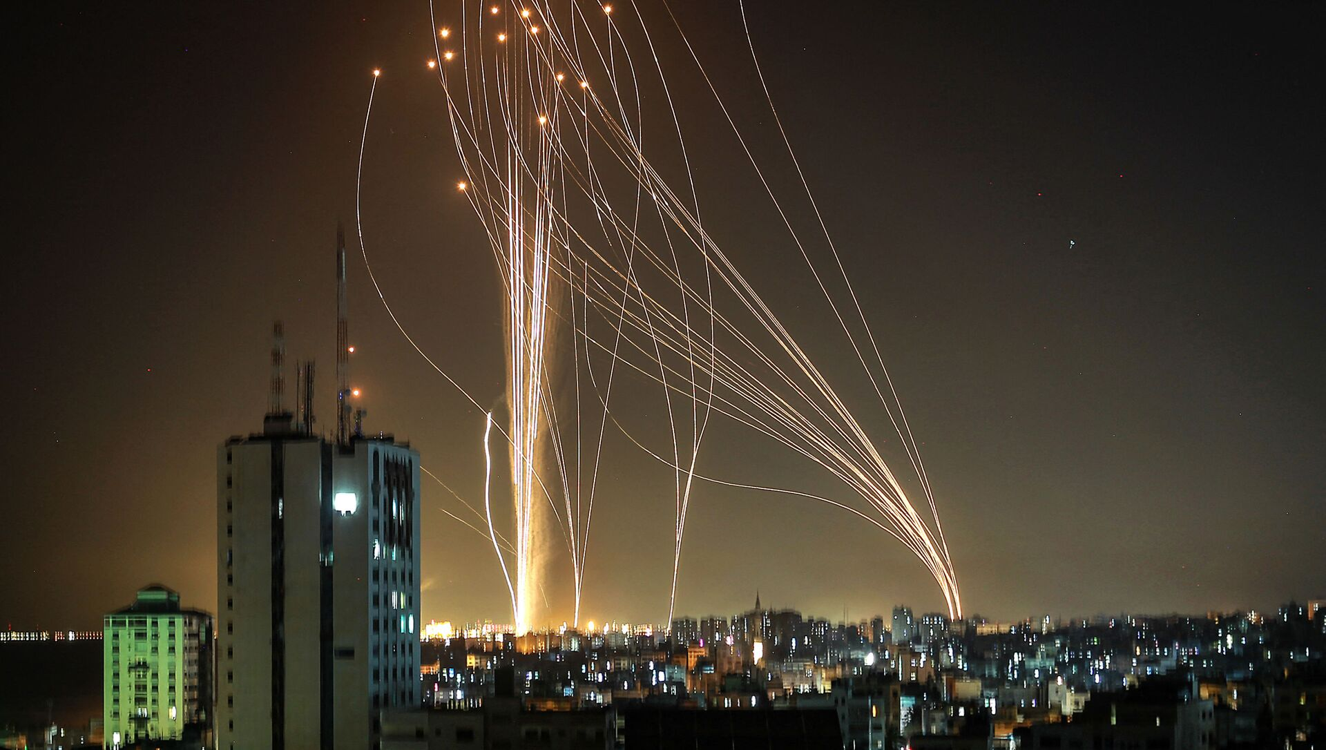 Rakete lansirane iz Gaze na Tel Aviv - Sputnik Srbija, 1920, 11.05.2021