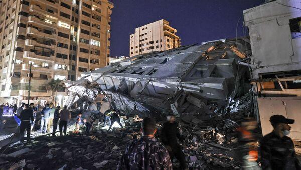 Газа после бомбардовања - Sputnik Србија