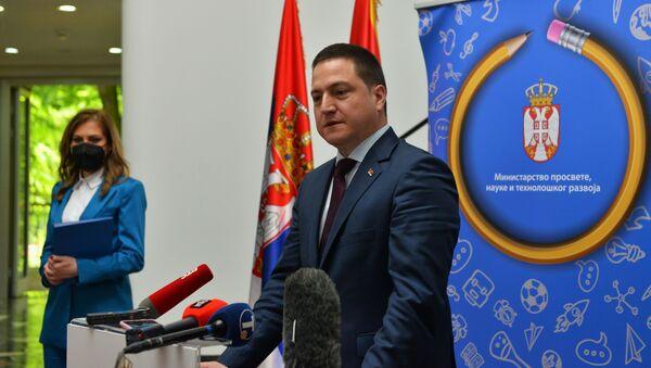 Obraćanje ministra Branka Ružića nakon sastanaka sa crnogorskom ministarkom Vesnom Bratić - Sputnik Srbija
