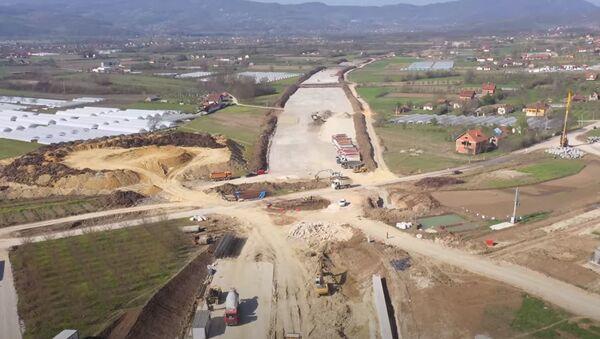 Radovi na delu trase auto-puta od Preljine do Požege - Sputnik Srbija
